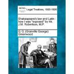 【预订】Shakespeare's Law and Latin: How I Was Exposed by Mr. J