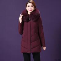 妈妈冬装中长款羽绒服女大码加厚2018新款40-50岁中年人羽绒外套