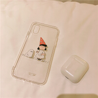 *日韩可爱卡通涂鸦女生iPhoneXs max透明7 6软壳8P手机套 iPhone6/6S (4.7寸)