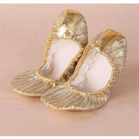 肚皮舞练功习鞋印度舞蹈表演出鞋软底女式网红同款时尚户外新品新款金色鞋