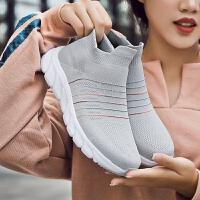春季跑步鞋女鞋新品运动鞋女舒适学生百搭休闲鞋袜子鞋