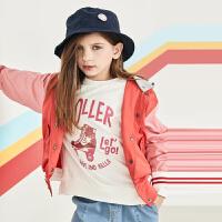 davebella戴维贝拉kids2020秋新款女痛外套中大童棒球衫DBK12224