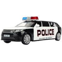 仿真合金车模回力车声光版新款警车男孩玩具车汽车模型