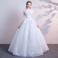 新年特惠抹胸婚纱礼服2019新款法式新娘小个子公主梦幻简约齐地显瘦森系轻