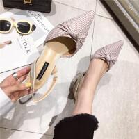 2019百搭休闲女士高跟鞋春季新款舒适女鞋时尚粗跟单鞋