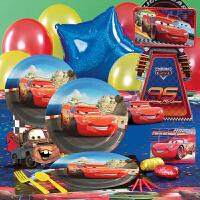 儿童聚会装扮布置道具小孩生日装饰用品气球 汽车总动员 闪电麦昆