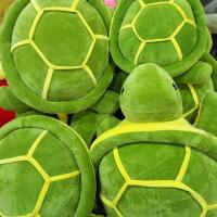 毛绒玩具乌龟小公仔超大号可爱乌龟抱枕玩偶羽绒棉海龟抱枕靠垫 墨绿色
