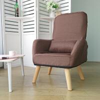 单人孕妇喂奶椅子哺乳椅靠背椅折叠日式小沙发可爱懒人椅