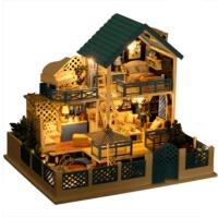 创意女生生日礼物diy小屋别墅爱琴海手工制作小房子模型拼装玩具