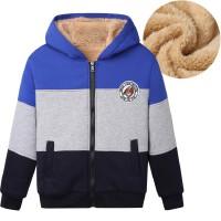 儿童卫衣秋冬装加绒加厚外套男童运动连帽抓绒开衫中大童上衣外套
