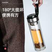 富光�p�硬AП�高�n便�y泡茶杯男耐高�厮�杯子大容量便�y加厚透明