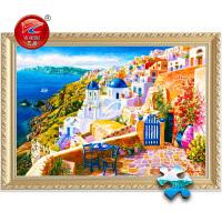 儿童益智玩具礼物趣味风景圣托里尼希腊爱琴海1000片木质拼图