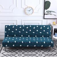 折叠沙发床沙发套全包通用 全盖多功能弹力无扶手沙发罩子双人三j 黑色 小白熊(小花)