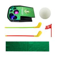 儿童高尔夫套装球杆推杆球道练习毯球类仿真体育玩具健身运动器材 高尔夫套装