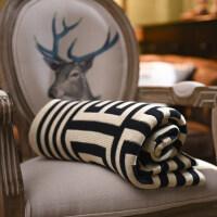 针织棉毛线毯子办公室午睡毯空调毛毯盖毯沙发春秋夏休闲毯