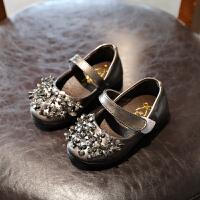 2018新款儿童鞋女童小皮鞋软底公主鞋女孩浅口单鞋银色舞蹈鞋
