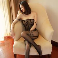女骚性感套装角色扮演制服诱惑情趣丝袜透明网纱开档连身连体黑丝袜 情趣内衣 女 骚 -+7696手拍