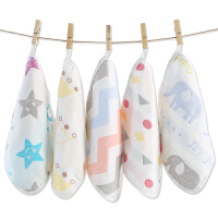 婴儿洗脸毛巾棉纱布宝宝喂奶小方巾儿童手帕10条装婴儿口水巾