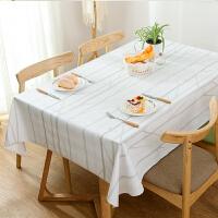 北欧风pvc桌布防水防油防烫免洗长方形餐桌布台布餐厅布艺塑料