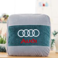 汽车抱枕被子两用靠垫毯子多功能空调被子车标订制可折叠车载抱枕