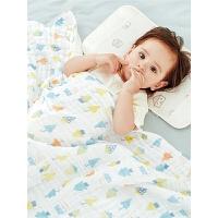 儿童洗澡巾夏季薄款婴儿浴巾棉纱布被宝宝浴巾吸水巾