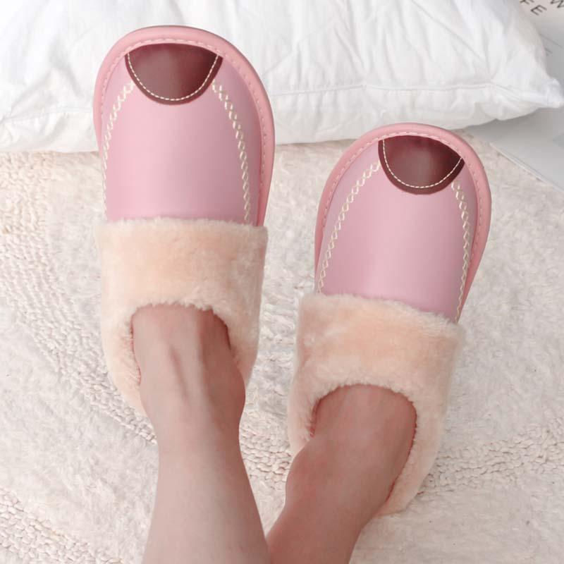 棉拖鞋女冬季居家室内家用男半包跟可爱厚底防水保暖冬天拖鞋