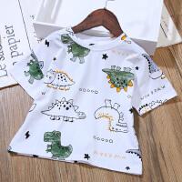 男童短袖t恤夏装童装女童宽松儿童恐龙图案T恤