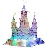 3D立体水晶拼图闪光音乐城堡钢琴海豚水晶鞋拼装模型玩具女孩礼物