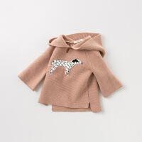 davebella戴维贝拉童装秋冬装新款女童针织套头衫宝宝毛衣DB11420