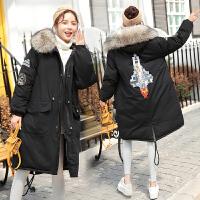 中长款孕妇装冬装 孕妇棉衣冬季新款外套棉袄韩版大羽绒码宽松
