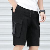 短裤男五分裤夏季潮流宽松多袋裤青年直筒工装裤哈伦裤大码裤K286