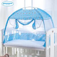 婴儿蚊帐罩儿童床蚊帐遮光蒙古包蚊帐罩婴儿床蚊帐带支架