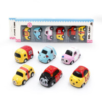 Q版迷你合金车 儿童玩具卡通回力小车6个装