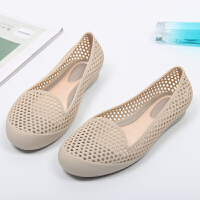 果冻鞋女凉鞋新款塑料沙滩鞋夏季百搭防水雨鞋镂空防滑洞洞鞋