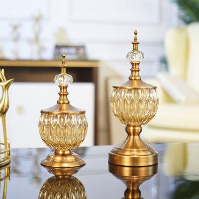 美欧式酒柜装饰品摆件样板间客厅电视柜轻奢摆设家居创意玻璃工 + 新品大促欢迎选购