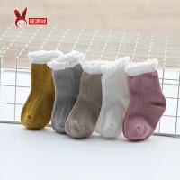 婴儿袜子春秋薄款泡泡松口儿童宝宝中筒新生儿秋冬0-6-12个月