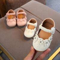 婴儿软底防滑学步鞋女宝宝小皮鞋0-3岁童鞋