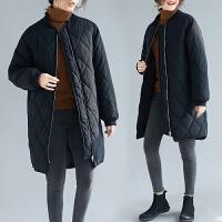 胖女人外套200斤特大码女装冬季新款中长款宽松显瘦棉袄衣服