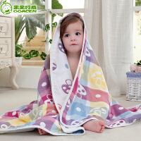 宝宝婴儿纱布浴巾婴儿浴巾儿童洗澡毛巾被软棉被子盖毯