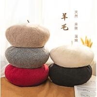 羊毛贝雷帽女秋冬季英伦复古画家八角帽韩版文艺日系南瓜蓓蕾帽子