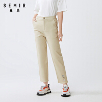 森马休闲长裤女2021夏季新款合体直筒长裤学生简约纯色裤子潮流