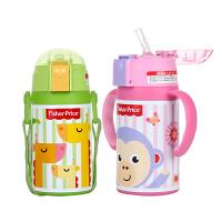 儿童保温杯带吸管两用不锈钢保温壶幼儿园宝宝防摔水杯子