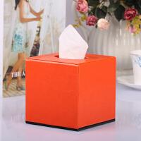 PU皮革方形卷筒纸巾盒家用客厅茶几抽子盒子卫生间座式卷筒简约卷纸盒抖音