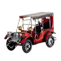 复古彩色铁皮老爷车 汽车模型 创意欧式家居装饰品摆件金属工艺品