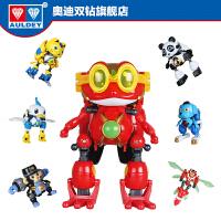 奥迪双钻正版快乐酷宝2合体玩具变形机器人全套蛙王酷宝雷霆战宝