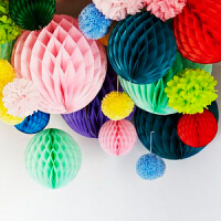孩派 蜂窝球拉花 生日派对用品年会创意纸装饰 纸花 纸球 纸扇