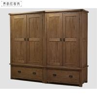 欧式白橡木全实木家具 储物柜储物柜四门衣柜 4门