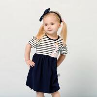 女宝夏季裙子宝宝夏装婴儿公主裙儿童洋气女童露肩连衣裙
