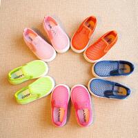 夏季儿童男童凉鞋宝宝鞋子沙滩鞋镂空布鞋