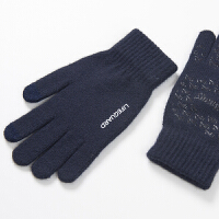 五指毛线手套手机触屏的冬季保暖薄款针织专用开车手套男 防滑